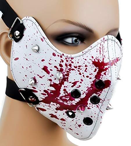 Clover Blood Splatter Half Face Mask - White ()