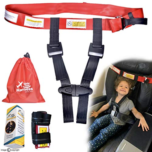 Child Airplane Safety Travel Harness - Clip Strap Safety Airplane - Child Restraint System for Baby,Toddlers & Kids - Airplane kid Travel Accessories for Aviation Travel Use
