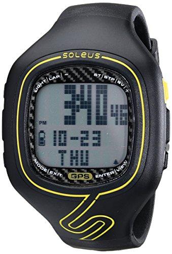 Soleus Unisex SG102020 GPS Vibe Black/Yellow Watch
