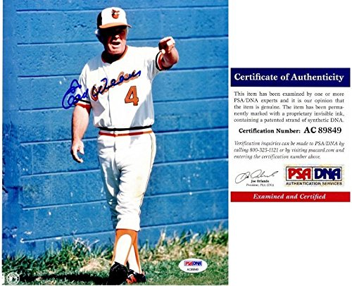 Earl Weaver Photo - Earl Weaver Autographed Photo - 8x10 inch Certificate of Authenticity COA - Deceased 21013 - PSA/DNA Certified