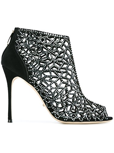 À Sergio Chaussures Rossi Talons Suède Noir Femme A71730MAFM391498 pwAYrx7p