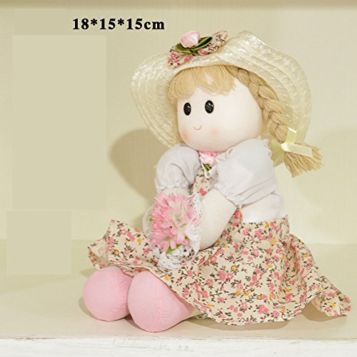 JOJOmay Prinzessin Ragdoll Spieluhr Creative Creative Creative Valentinstag Geburtstagsgeschenk (Farbe : Pastoral Girl, Größe : 14X14X13CM) a221c9