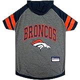 Denver Broncos Pet Hoodie T-Shirt - Medium