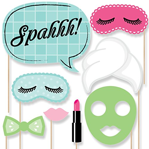 Spa Day - Photo Booth Props Kit -