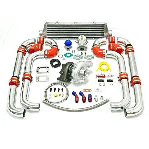 Crx Turbo Kits - Universal Turbocharged Upgrade T04E T3 9pc Turbo Kit