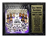 : Encore Select 521-05 NFL Baltimore Ravens Super Bowl XLVII Championship Team Biggest Stars Plaque, 12-Inch by 15-Inch