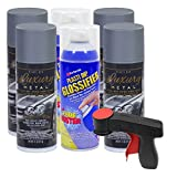 Plasti Dip Rim Kit: 4 Aerosol Cans Luxury Selenite Gray Metallic, 2 Aerosol Cans Glossifier, 1 Cangun ...