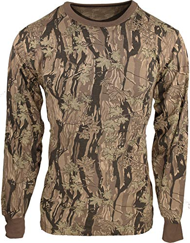 Army Universe Smokey Branch Camouflage Long Sleeve Military T-Shirt Pin - Size Large ()