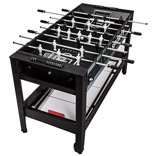 Franklin Sports 4-in-1 Game Table – Includes Foosball Tabl