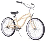 Firmstrong Urban Lady Three Speed Beach Cruiser Bicycle, 24-Inch, Vanilla