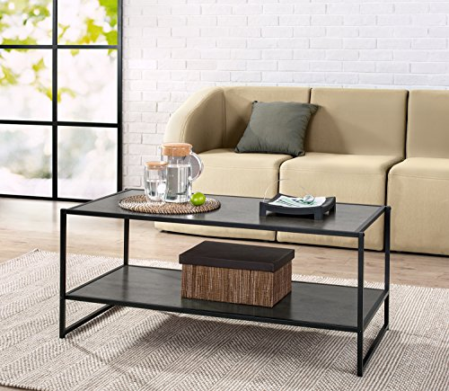 Zinus Troy Modern Studio Collection Deluxe Rectangular Coffee Table, Espresso ()