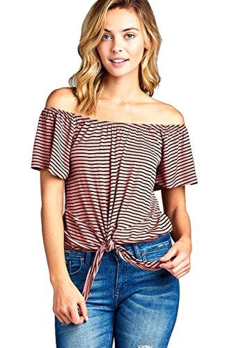 3/4 Sleeve Crinkle Stripe Shirt - 4