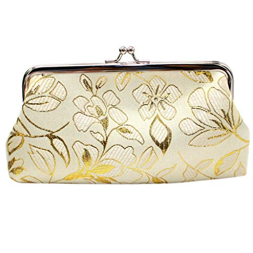 Willow S Women Retro Embroidery Flower Short Wallet Coin Purse Card Holders Handbag