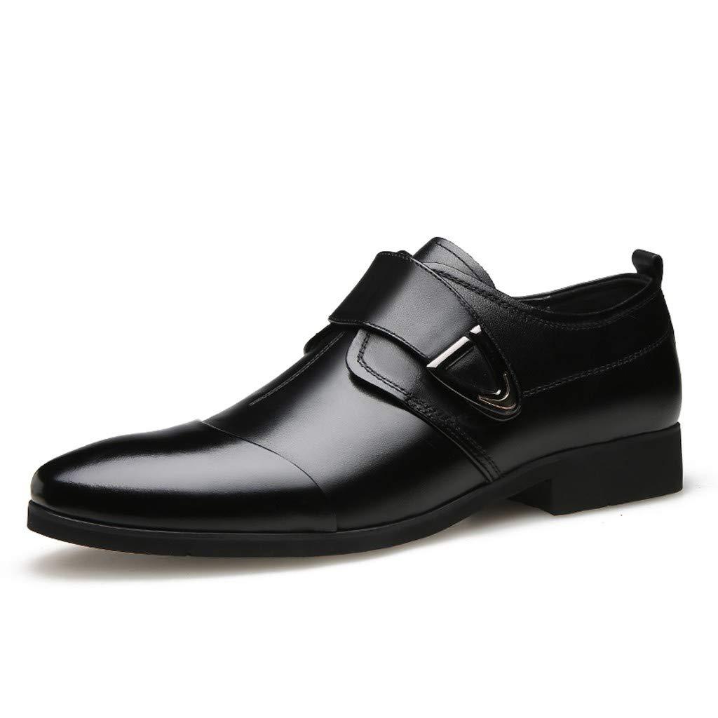 Men's Oxford Sneaker Dress Shoes-Men Business Men's Classic Business Shoes Pointed Casual Shoes Low to Help Set Foot Shoes