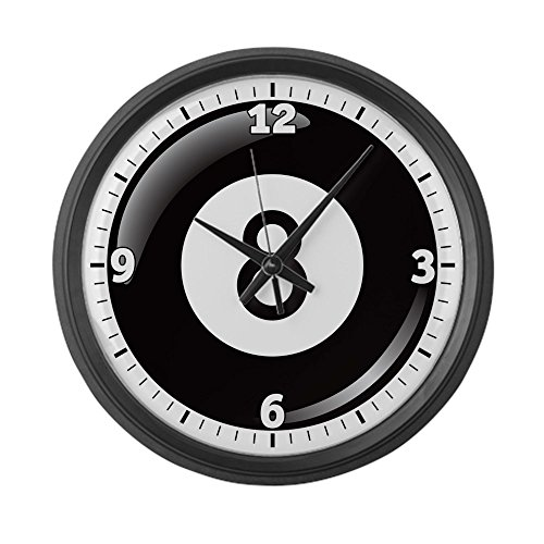 Large Wall Clock 8 Ball Pool Billiards ()