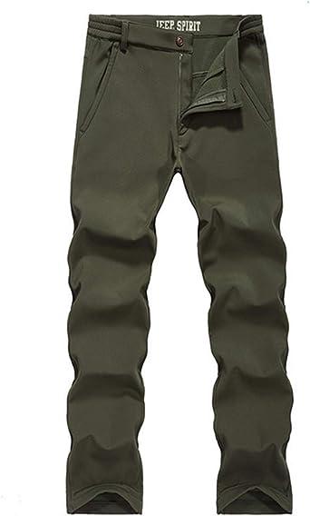 Men/'s winter outdoor hiking ski pants fleece thick windproof waterproof trousers