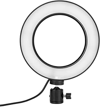 LED Video Light,6 Inch Ring Shape Photography Lighting Fill Light USB Inter for Studio YouTube Video Selfie,Product Photography 3 Colors Adjustable(Warm Soft White.
