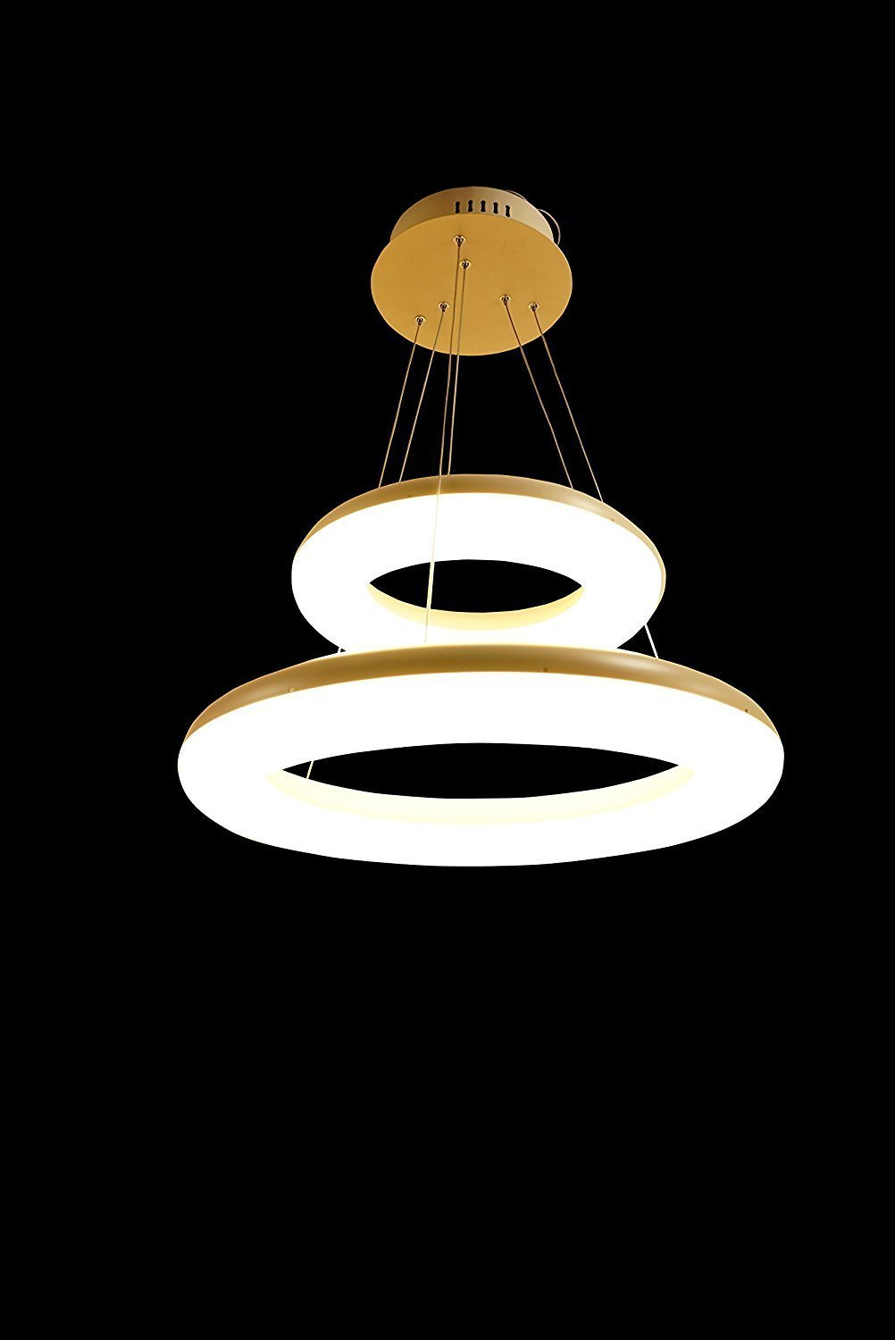 Upgrade LED Ceiling Light Fixture Double Round Circle ( Out Ring 24 inch + Inner Ring 16 inch ) (24 inch & 16 inch) by Modin Home Inc