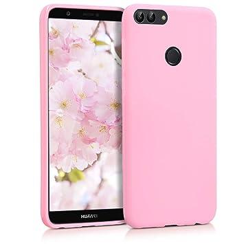 kwmobile Funda para Huawei Enjoy 7S / P Smart - Carcasa para móvil en TPU Silicona - Protector Trasero en Rosa Palo Mate