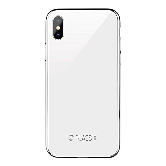 best service f1c8f 4ecdf SwitchEasy Glass X Case for iPhone X- White (White)