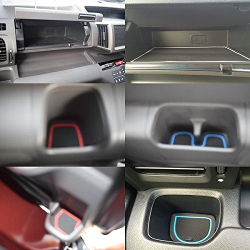 KINMEI Honda RK Step WGN Spada specially designed red interior door pocket mat drink holder slip non-slip storage space protection rubber mats STEP WGN HONDArk-r