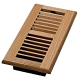 Decor Grates WL410-N 4-Inch by 10-Inch Wood Louver Floor Register, Natural Oak