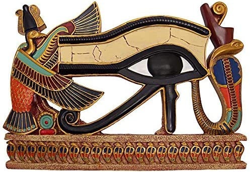 Design Toscano Egypitan Decor Eye of Horus Wall Sculpture Plaque, 12 Inch, Full Color