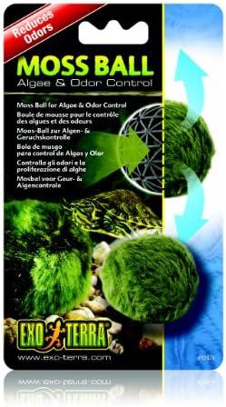 Exo Terra Moss Ball, Water Clarity and Odor Control for Aqua-Terrariums, PT2478