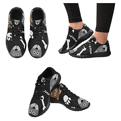 InterestPrint Womens Jogging Running Sneaker Lightweight Go Easy Walking Casual Comfort Sports Running Shoes Cartoon Dogs Multi 1 XUjQo9C