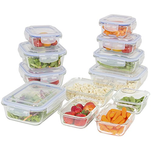 Best Choice Products 24-Piece All-Purpose Airtight Assorted Glass Food Preserving Storage Container Set w/ BPA-Free Lids, 5 Sizes