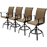4 Outdoor Slingback Swivel Bar Stools Perfect for entertaining outside on the deck or patio