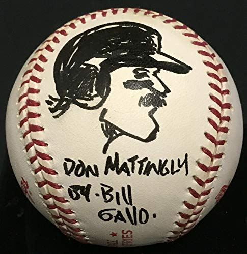 Bill Gallo Daily News Autographed Signed Memorabilia 1994 Ws Baseball Don Mattingly Cartoon Auto Coa 1/1 - Certified Authentic