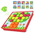 AMOSTING Button Art Color Matching Mosaic Pegboard Early Learning Educational Toys for Boys and Girls from AMOSTING
