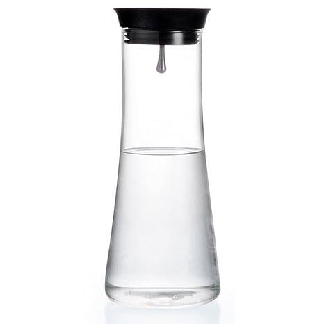 Jarra (1100 ml de vidrio de borosilicato con pico vertedor de acero inoxidable