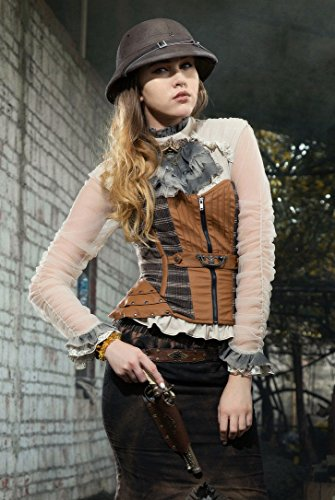 Steampunk Womens Clothing Punk Gothic Tee For Women Costumes Shirt Tops For Girls (Asia size S/US size (Adult Steampunk Girl Sexy Costume)