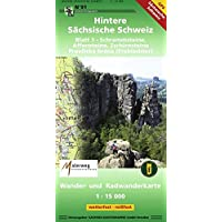 Hintere Sächsische Schweiz Blatt 1 - Schrammsteine, Affensteine, Zschirnsteine: Wander- und Radwanderkarte . 1:15000 GPS-fähig wetterfest, reißfest