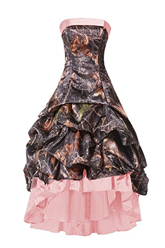 camo bridesmaid dresses with pink - 8