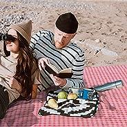Picnic Blankets Waterproof Foldable, Beach Mat Sandproof,Foldable Outdoor Beach Picnic Blanket,79 x 79 Portabl