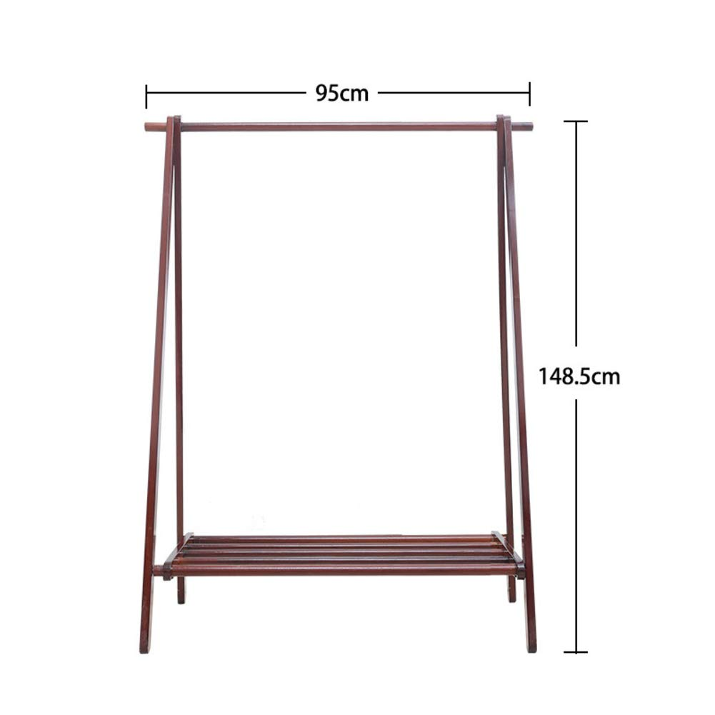 K 95x148cm(37x58inch) Bamboo Clothes Rack Portable,Extra Large Garment Rack,Storage Box Shelves for Entryway and Bed Room Patented Design-D 75x148cm(30x58inch)