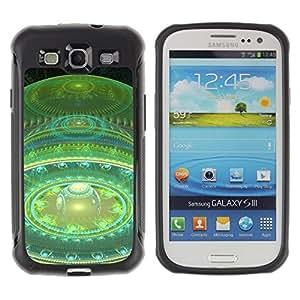 All-Round híbrido Heavy Duty de goma duro caso cubierta protectora Accesorio Generación-II BY RAYDREAMMM - Samsung Galaxy S3 I9300 - Ball Planet Red Art Space Universe Time