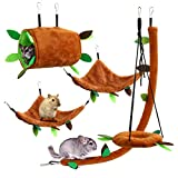 5-Pack Hamster Cage Accessories Toys, AXUAN Ferret