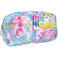iscream Chill 8.5 x 4.5 Bold Print Zippered Cosmetic Bag