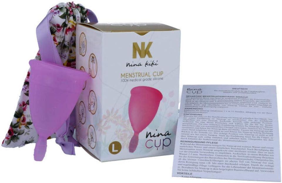 NINA CUP COPA MENSTRUAL TALLA L ROSA: Amazon.es: Salud y ...