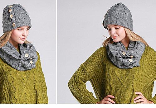 Unique Gris Femme Bonnet Acvip Taille Hx64Oyq