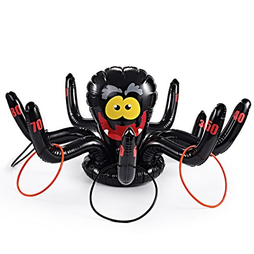 Huge Inflatable 36 Inch Spider Ring Toss Game; Perfect for Halloween Party Favor by Spooktacular (Halloween Ring Toss)