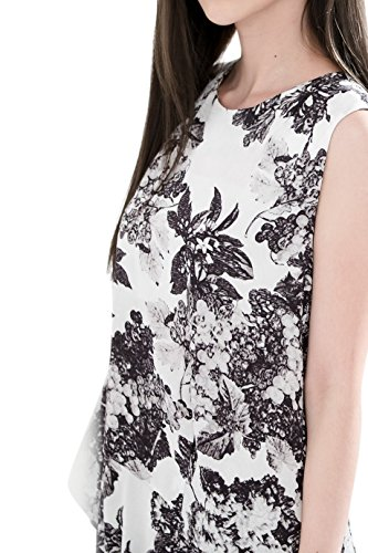 Everyday Elegance Women's Floral Summer Dress with Pockets (Medium, White) (Sailor Outfit Ebay)
