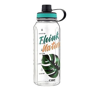 TZ Botella del Agua Deporte 900Ml/1200Ml/1500Ml Botellas Agua Deporte Eco-Friendly De Plastico Sin BPA Reutilizables Tritan para Niños Deportes Yoga ...