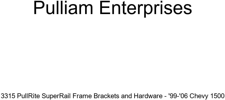 Pulliam Enterprises 3315 PullRite SuperRail Frame Brackets and Hardware 99-06 Chevy 1500