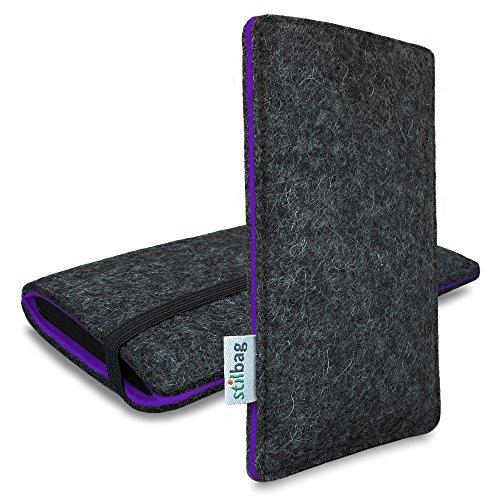 Stilbag Filztasche 'FINN' für Apple iPhone 5c - Farbe: anthrazit/violett