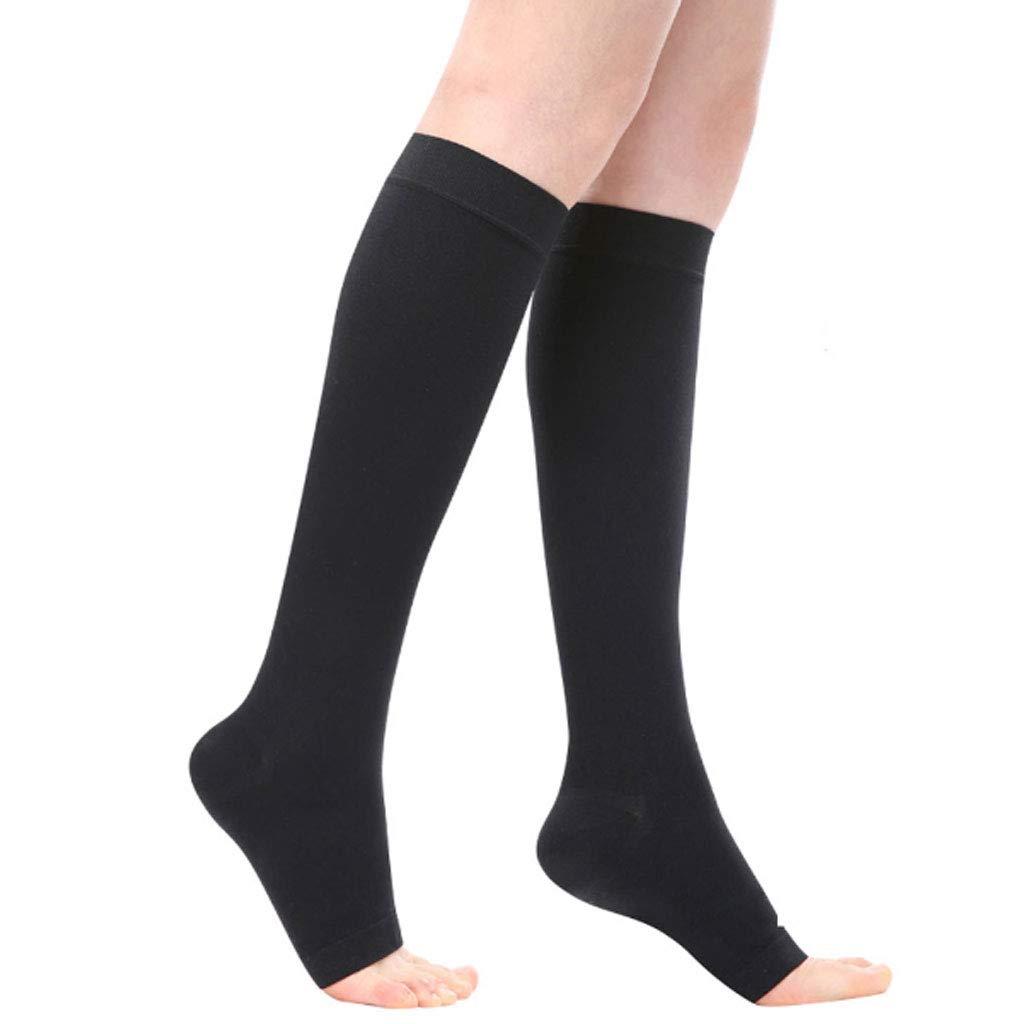 Level2ABLACK Large Varicose Compression Socks to Prevent Thrombus Vein varicose Compression Socks
